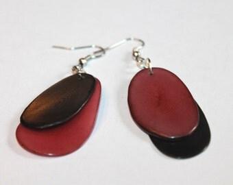 Tagua-nut Earrings/ Tagua Jewelry, Boho Jewelry