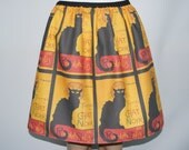 Le Chat Noir skirt - made to order