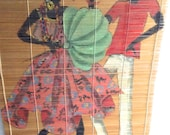 Vintage 1950s Brazilian Dancers Painting. Stereotyped blackface  caricature.  Ah the 50s...