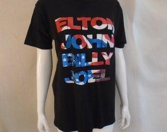 Vintage Elton John Rock T Shirt Billy Joel Concert T-shirt Authentic 1994 Face to Face Tour