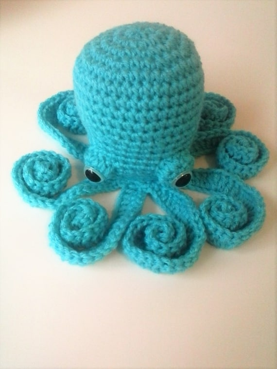Amigurumi Octopus - Turquoise Octopus with Safety Eyes