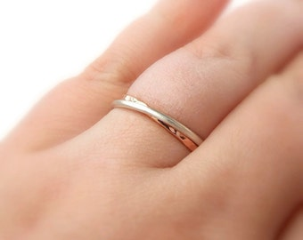Double Linked Rings:  textured ring, 14K Gold-filled ring, hammered ring, dainty ring, two rings, gold ring, silver ring, stacking ring