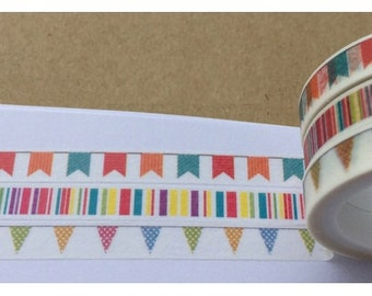 3 rolls Washi Tape Set (7mm X 5M)