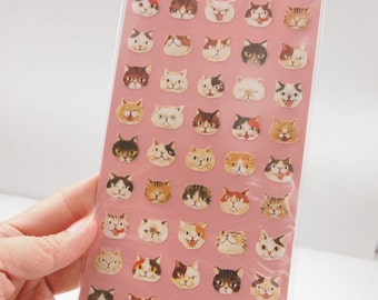 Funny Cats Sticker (1 sheet)