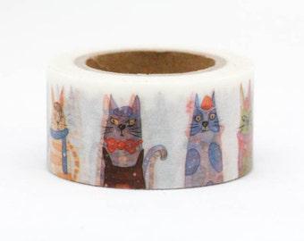 Funny Cat Washi Tape (25mm X 10M)