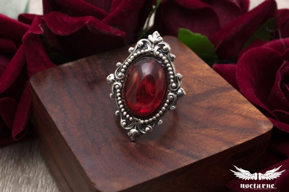 Marbled Stone Victorian Ring | Choose your color: Purple, Blue, Green and Red