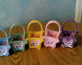 Set of 5 Bunny Easter Basket Favors
