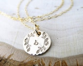 """Two Disc Necklace - Sadie Uppercase Initials, 16"""" Chain"""