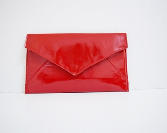 Red Patent Leather Clutch