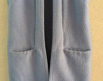 Handmade blue blanketcoat cardigan long waistcoat blanket,  size S M