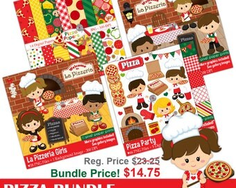 Pizza Bundle - Pizza clipart - Bundle price