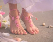 Flower Girl Barefoot Sandals- Toddler Foot Jewelry- Beach Wedding- Girl Beach Sandals- Barefoot Wedding Sandals- Flower Girl Gift- Birthday