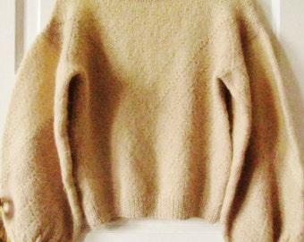 Hand Knitted Alpaca Sweater S - M