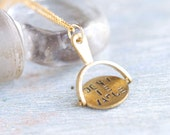 Don't Be Vague - Secret Message Necklace - Spinning Disk Pendant on Chain