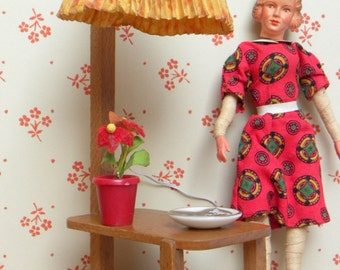 Vintage dollhouse standing lamp