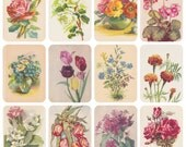 Still Lifes with Flowers / Vintage Flowers. Collection / Set of 18 Vintage Russian, Polish and German Postcards -- 1950s-1960s