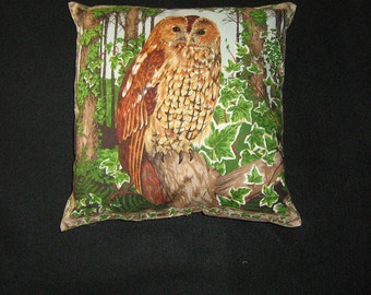Makower Owl Pillow Cover/Sham--Rare  and out of Print--