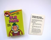 Vintage Old Maid Playing Cards - 1986 Playmore Creative Child - Fun Graphics - Card Names - Professions - Family Game Night - Arts Crafts