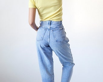 Vintage 90s High Waited Pleated Denim Jeans Bill Blass Blast from the Past - size 6 - R8