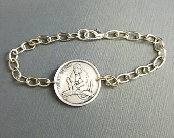 Year of the Monkey - Chinese Zodiac bracelet - Monkey bracelet - coin bracelet - coin jewelry - Chinese New Year monkey coin jewelry
