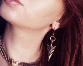 Arrow earrings - arrow head earrings tribal earrings