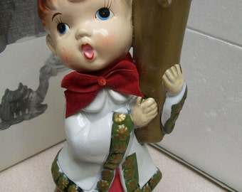 Vintage Choir Boy Candle Holder Mid Century by Parma