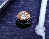 Latte Art Heart Lapel Pin