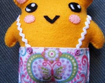 Kawaii Chubby Pants Bear Felt Plushie
