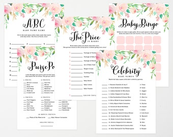 Instant Download - Spring Shower Baby Shower Game Collection