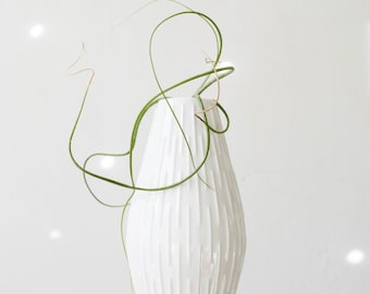 Mid Century Glazed White Porcelain Vase // Jaeger West Germany // Modernist Home Decor