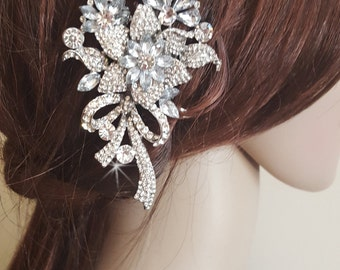 Crystal Wedding Hair Comb, Bridal Hairpiece,  Wedding Hair Piece,  Bridal Hair Comb, Austrian Crystal, Cubic Zirconia