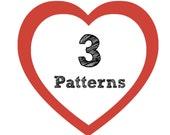 3 Crochet Patterns for 11 Dollars