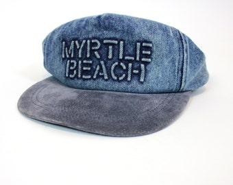 Vintage Acid Washed Jean Myrtle Beach Snapback Hat