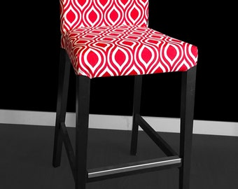 IKEA HENRIKSDAL Bar Stool Chair Cover - Nicole Red
