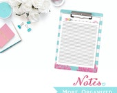Notes. More Organized. - Notes Page Digital File