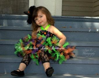 Witch Tutu Dress, Halloween Witch Tutu Dress, Petti Tutu Halloween Costume, Witch Tutus, Halloween Petti Tutu Dress