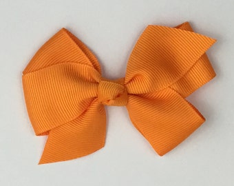 Boutique Hair Bows- Orange- 3 inch Hair Bow, Boutique Bow, Babies Toddler Girls Women