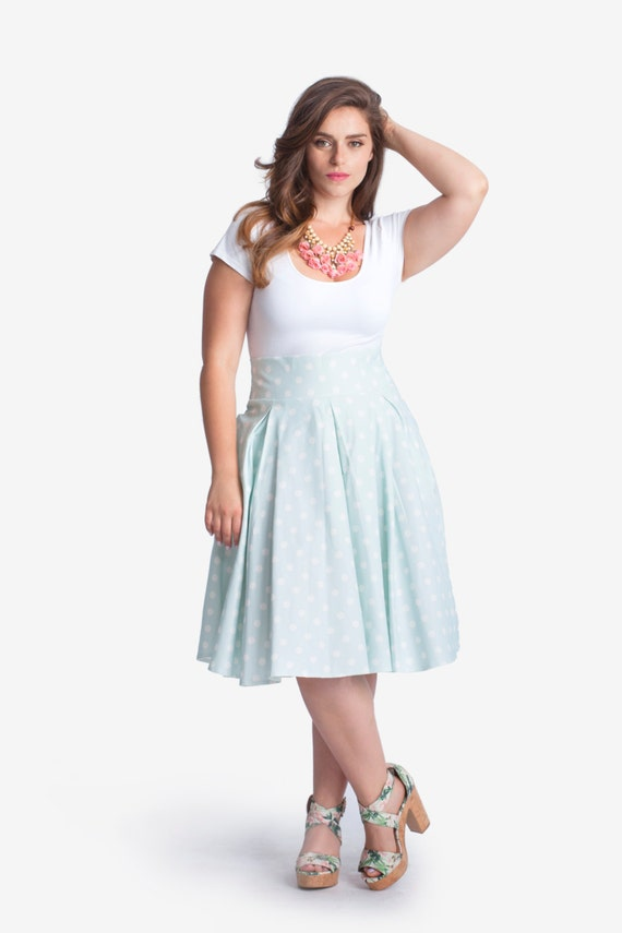 plus size flare midi skirt knee length midi by tapumeyou