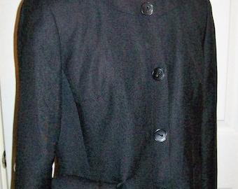 99 CENT SAlE Vintage Ladies Black Blazer Jacket by Jones Wear Size 10 Now .99 USD