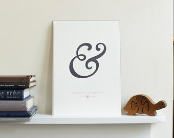 Goudy Old Style Italic Ampersand Letterpress Art Print