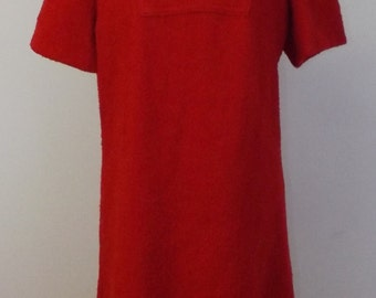 Vintage Red Boucle Dress