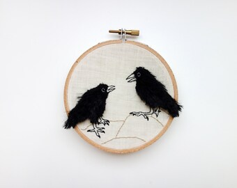 Crow Friends Embroidery