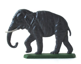 Tin Elephant Toy 1950s, metal figure, zoo animals