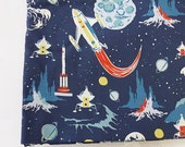 Outer Space Fabric, Rocket Fabric, Planets Fabric, Galaxy Fabric, Moon Fabric, Designer Canvas Fabric