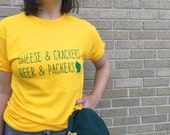 Wisconsin Motto T-shirt UNISEX - Cheesehead, Green Bay Packers, Beer