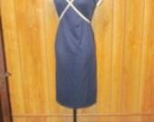 On Sale-Adorable NAVY Blue VINTAGE Day Dress