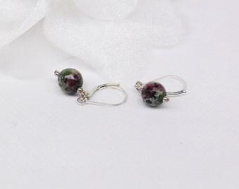 Ruby Earrings Ruby Zoisite Earrings Dangle Earrings Gemstone Earrings 925 Sterling Silver Earrings BuyAny3+Get1 Free
