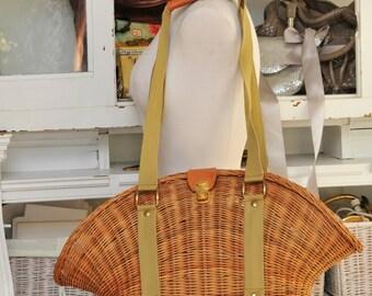 Vintage Cane  Handbag