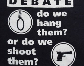 The Great Royal Debate - Punk Slogan- Funny Slogan- Political Humour - Royal Family Sweater- V Neck - Screenprinted Navy Blue Jumper XL