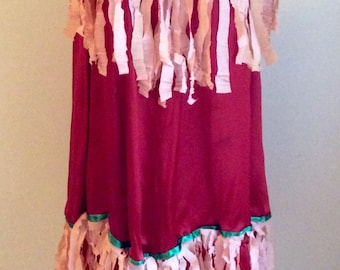Vintage 1920s 30s Women's Native American Flapper Costume Dress
